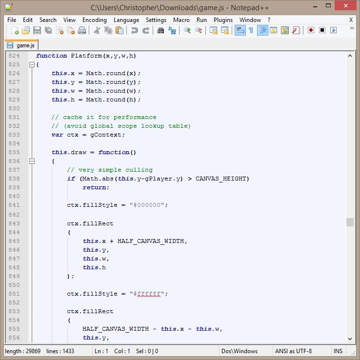 Mirrored Vertical Platformer (JavaScript & HTML5