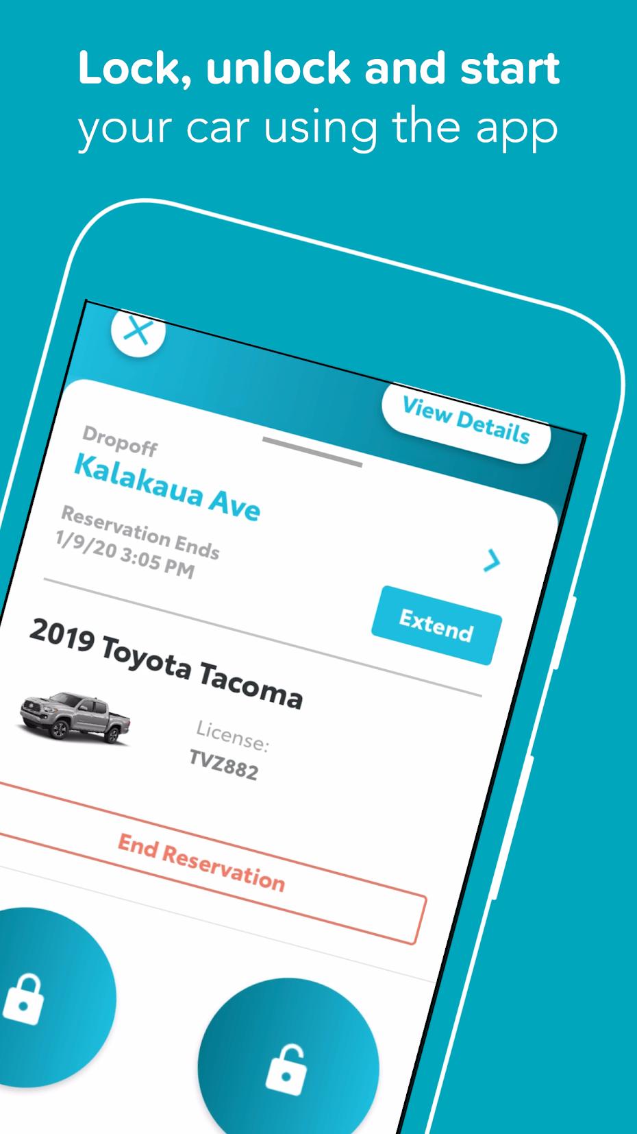 Hui Car Share, iOS & Android